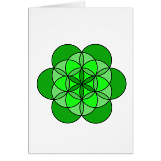 Heart Flower of Life Card