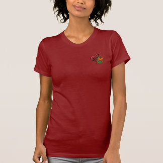 Heart Flower Pocket/ Guitar Unicorn Back T-Shirt