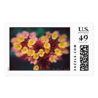 Heart Flower  Postage Stamp