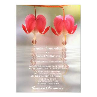 Heart Flower Wedding Invitations