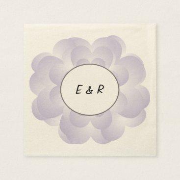 Valentines Themed Heart Flower Wedding Lavender Napkin