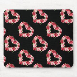 Heart Flower Wreath, Love Mouse Pad