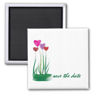 Heart flowers! 2 inch square magnet