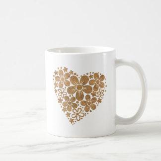 heart flowers 4 coffee mug