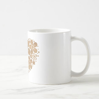 heart flowers 4 coffee mugs