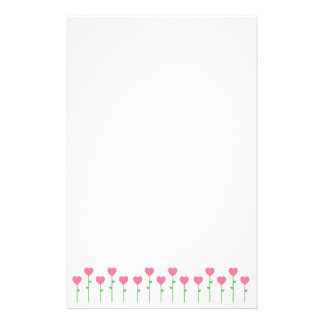 Heart Flowers Stationery