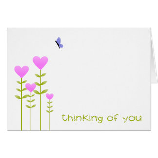 Heart Flowers - Thinking of You card