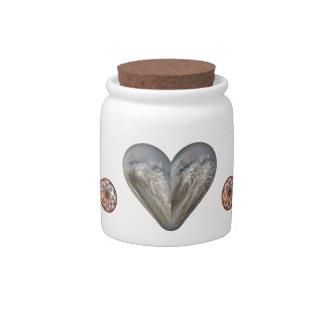 heart fluffy seeds candy jar