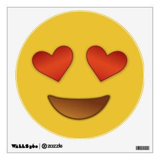 Heart for Eyes Emoji Wall Decal