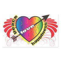 Heart for Peace Rectangular Sticker