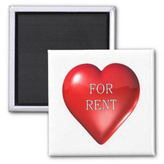 heart: for rent magnet