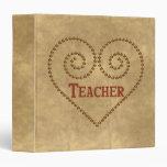 Heart For Teacher 3 Ring Binders