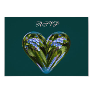 heart forget-me-not card