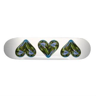 heart forget-me-not skateboard