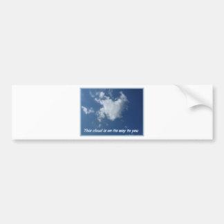 Heart formed Cloud Car Bumper Sticker