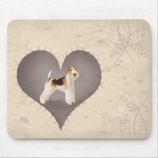 Heart Foxterrier Mouse Pad