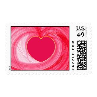 Heart Fractal Postage Stamp
