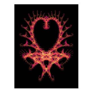 Heart Fractal Postcard