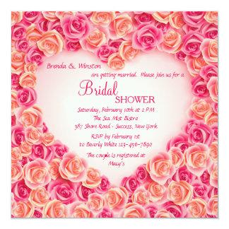 Heart Frame of Roses Invitation