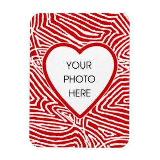 Heart Frame Rectangular Photo Magnet