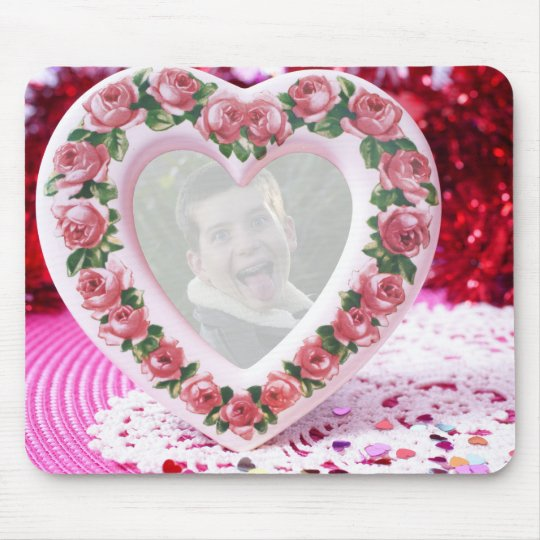 Heart Frame Template Mouse Pad