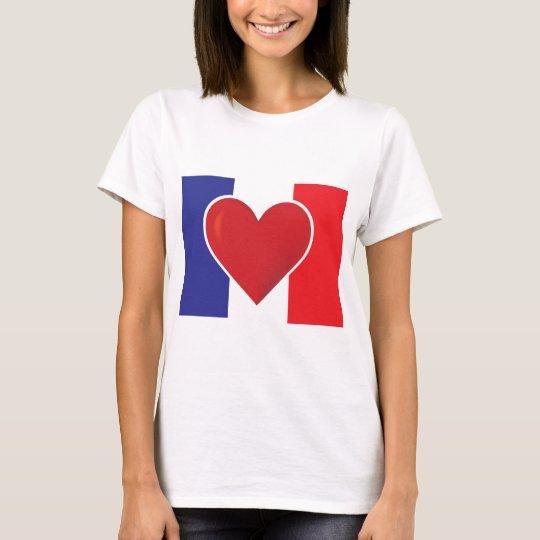 Heart France Flag T-Shirt