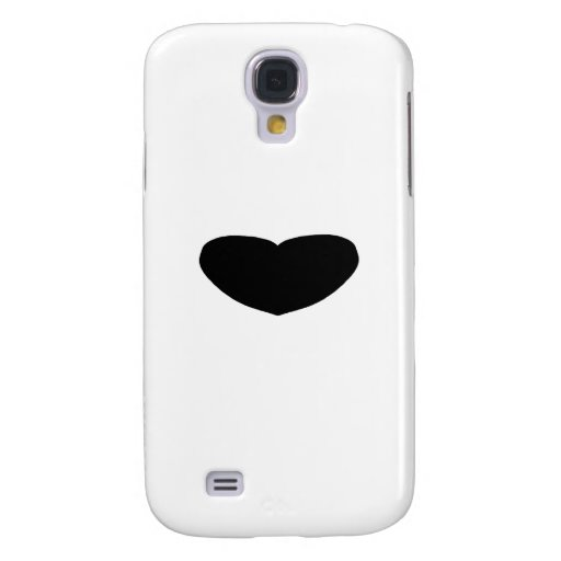 Heart Freeform 10 Black The MUSEUM Zazzle Gifts Samsung Galaxy S4 Cover