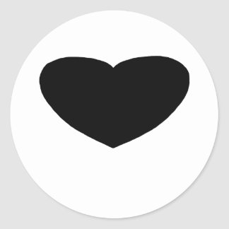 Heart Freeform 2 Black The MUSEUM Zazzle Gifts Classic Round Sticker