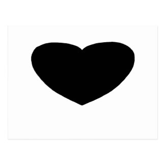 Heart Freeform 2 Black The MUSEUM Zazzle Gifts Postcard