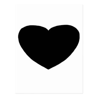 Heart Freeform 3 Black The MUSEUM Zazzle Gifts Postcard