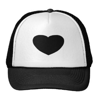 Heart Freeform 3 Black The MUSEUM Zazzle Gifts Trucker Hat