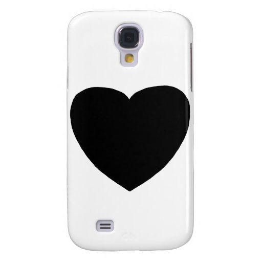 Heart Freeform 4 Black The MUSEUM Zazzle Gifts Galaxy S4 Cover