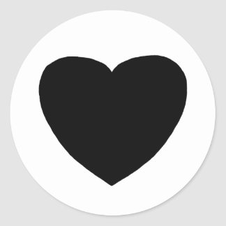 Heart Freeform 4 Black The MUSEUM Zazzle Gifts Classic Round Sticker
