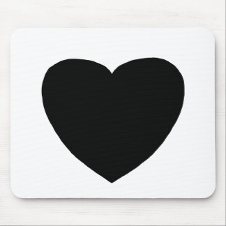 Heart Freeform 4 Black The MUSEUM Zazzle Gifts Mouse Pad