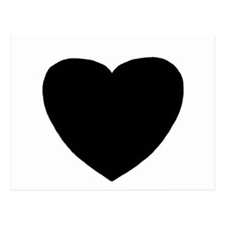 Heart Freeform 4 Black The MUSEUM Zazzle Gifts Post Card