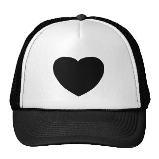 Heart Freeform 4 Black The MUSEUM Zazzle Gifts Trucker Hat