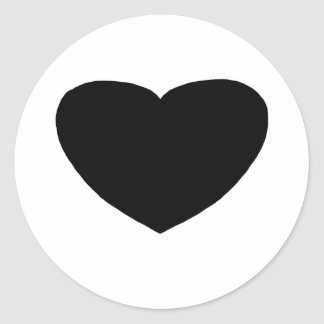 Heart Freeform 5 Black The MUSEUM Zazzle Gifts Classic Round Sticker