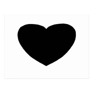 Heart Freeform 5 Black The MUSEUM Zazzle Gifts Postcard