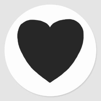 Heart Freeform 7 Black The MUSEUM Zazzle Gifts Classic Round Sticker