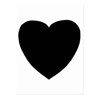 Heart Freeform 7 Black The MUSEUM Zazzle Gifts Post Card