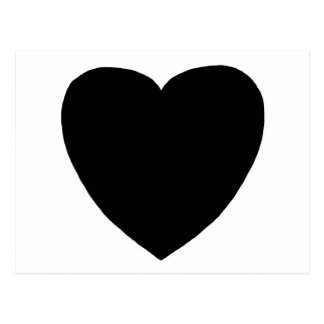 Heart Freeform 7 Black The MUSEUM Zazzle Gifts Postcard