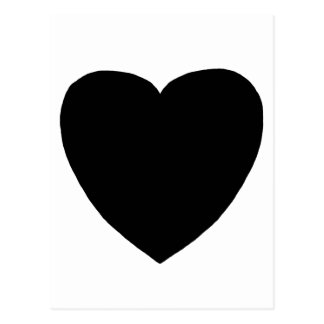 Heart Freeform 8 Black The MUSEUM Zazzle Gifts Postcards