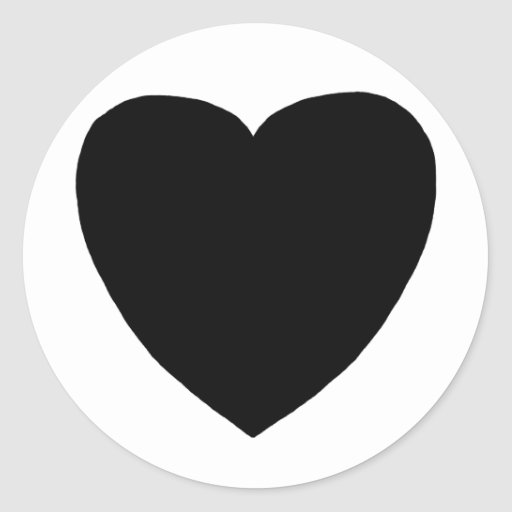 Heart Freeform 8 Black The MUSEUM Zazzle Gifts Classic Round Sticker