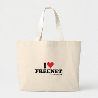 Heart Freenet Canvas Bags