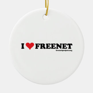 Heart Freenet - Long Ceramic Ornament