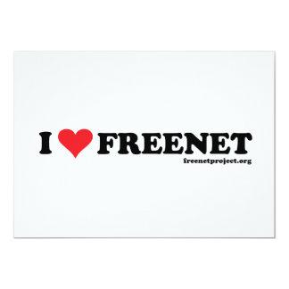 Heart Freenet - Long Custom Invitations