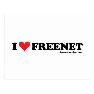 Heart Freenet - Long Postcard