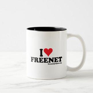 Heart Freenet Two-Tone Coffee Mug