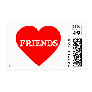 HEART FRIENDS POSTAGE STAMP