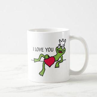 heart frog classic white coffee mug
